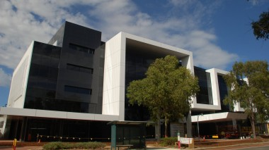 The almost completed Shenton House, overlooking Joondalup Health Campus